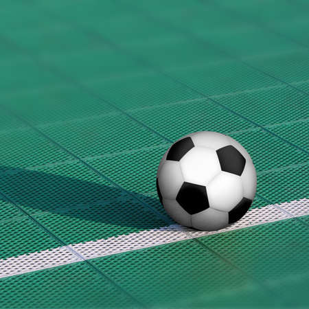 Soccer ball on special outdoor surface field