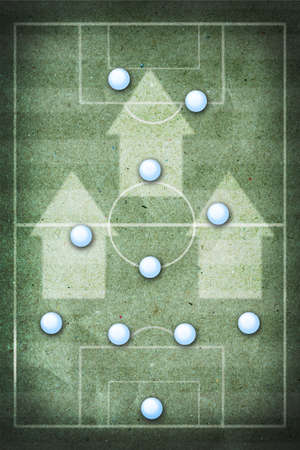 futsal: soccer strategy board  Stock Photo