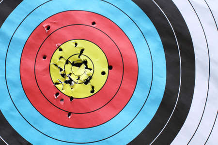 inspiration to successful with archery target  photo