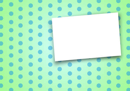 card on green polka dot background. photo
