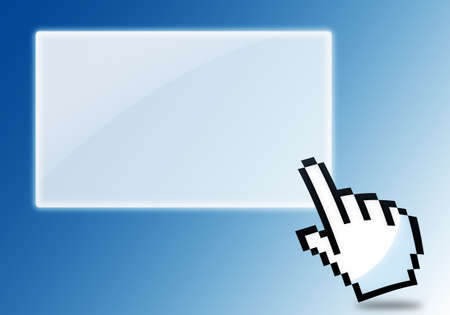 cursor clicking blank icon  Stock Photo - 13847690