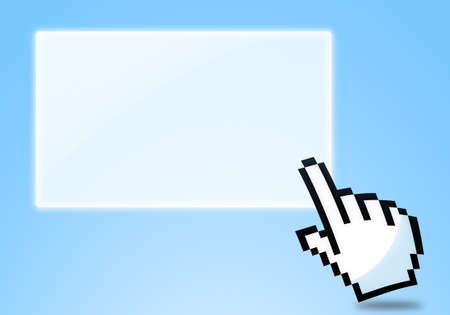 cursor clicking blank icon Stock Photo - 13847689