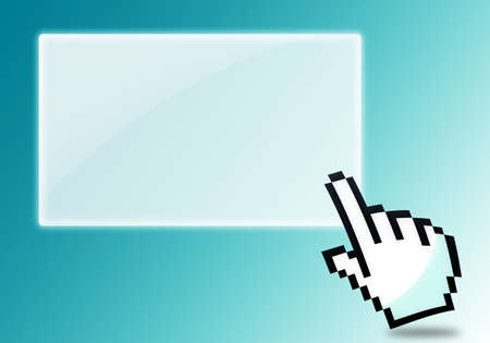 cursor clicking blank icon Stock Photo - 13847691