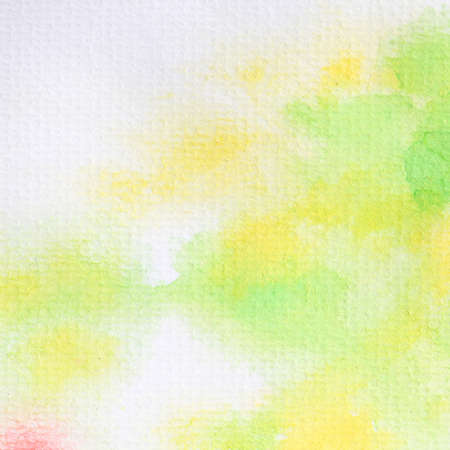 Abstract green-yellow watercolor painted on paper Banque d'images