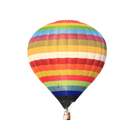 air sport: hot air balloon isolated white  Stock Photo