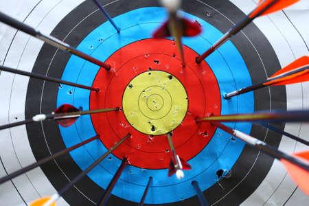 archery: arrows miss target.