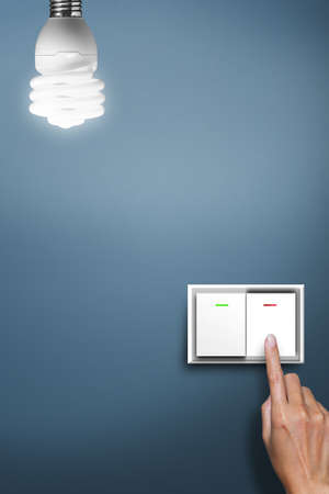 power switch: hand pressed to switch to turn on the light.