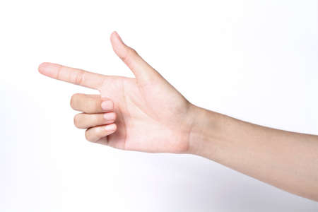 banish: hand pointing