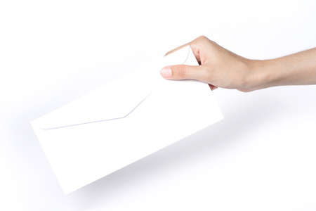 hand giving a blank envelope Stock Photo - 14394514
