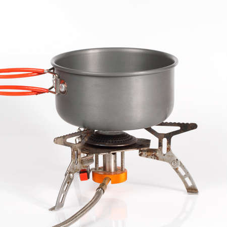pot on camping stove Stock Photo - 14569046