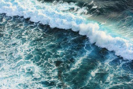 rushing water: wave in sea  Stock Photo