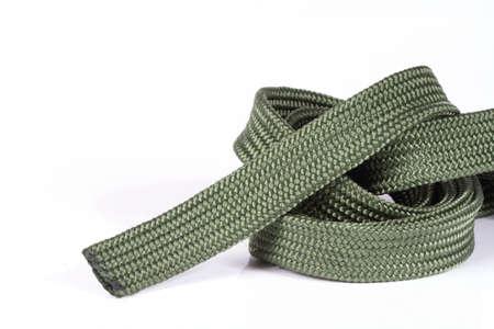 firmeza: cuerda aislado blanco