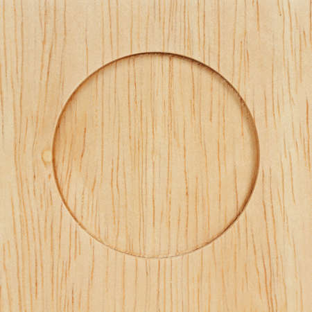 circle on wood  photo