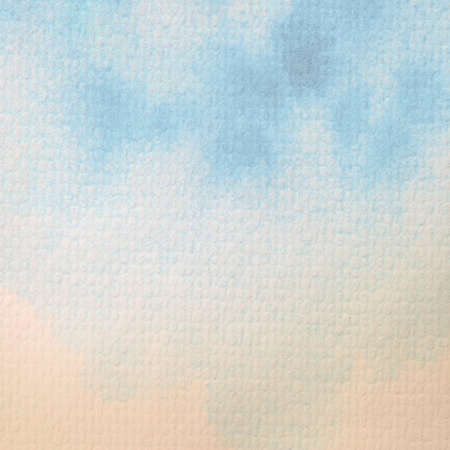 Abstract beach watercolor painted on paper Stock Photo