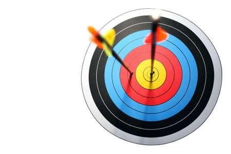 missed: arrow hits target, one missed
