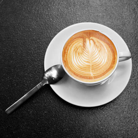 coffee in white glass