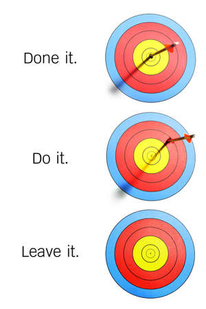 bul: arrows hit and missed target, leave one of it