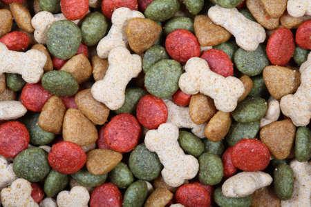 Dog food close up photo
