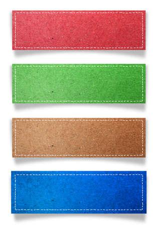 memo pad: paper label sticker over white background