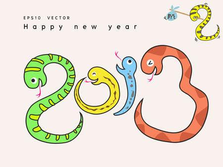 2013 snake icon cartoon Stock Vector - 16645278