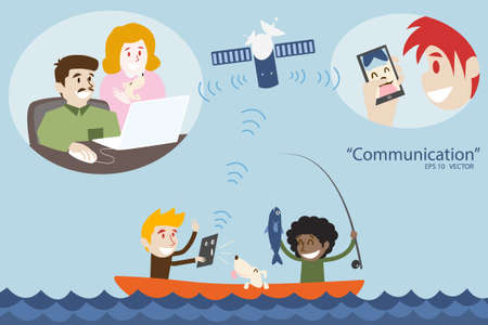 sattelite: communication concept