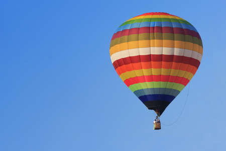 hot air balloon: Hot Air Balloon over clear blie sky