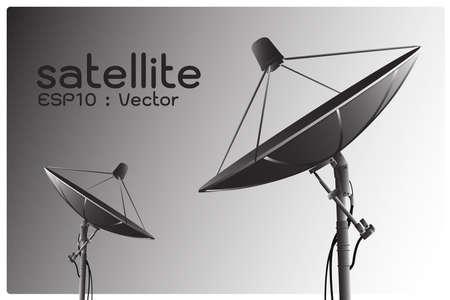 satellite dish antenna , vector photo