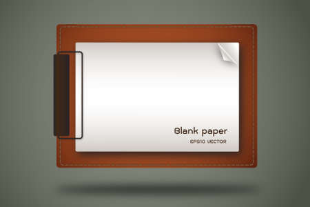 note pad and pen: paper clip board