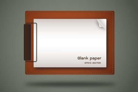 career fair: paper clip board