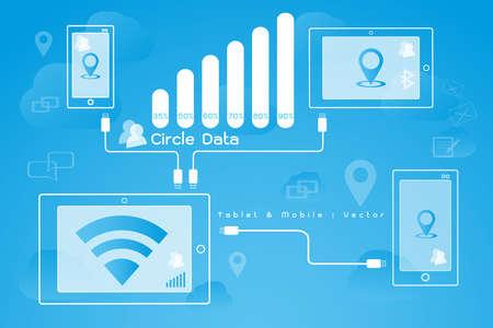mobile - internet networking icon Illustration