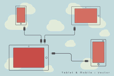 mobile - internet networking icon Vector