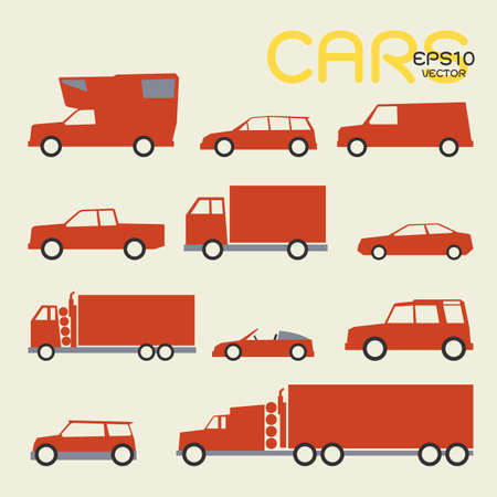 cars and trucks Stock Vector - 18356159