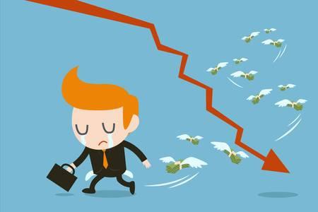 moneyless: businessman lose money