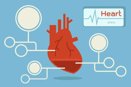 heart infographics Stock Vector - 18356123