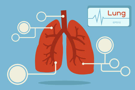 lung infographics Stock Vector - 18356126