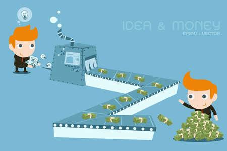 메이커: 돈 제작자 기계 일러스트