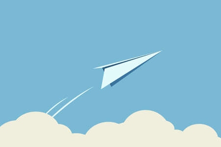 fly up: paper plane