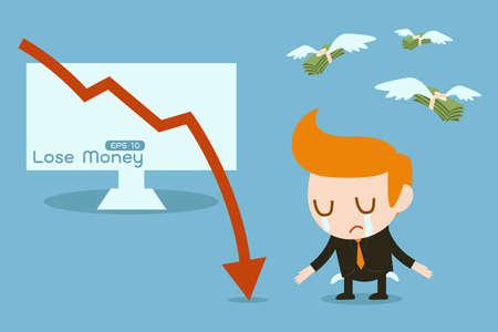 empty pocket: perder dinero Vectores