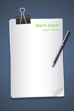 note pad and pen: clip paper and pen