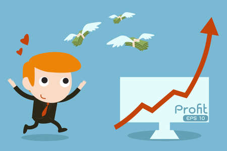 businessman success in marketing
