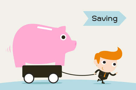 saving the piggy bank Stock Vector - 18356169