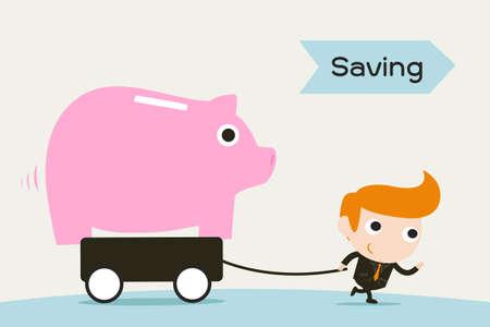 saving the piggy bank Stock Vector - 18356169