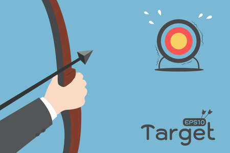 bow arrow: target Illustration