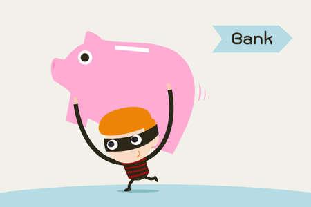 cuenta bancaria: ladrón y hucha