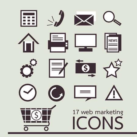 web - marketing icons Stock Vector - 18684653
