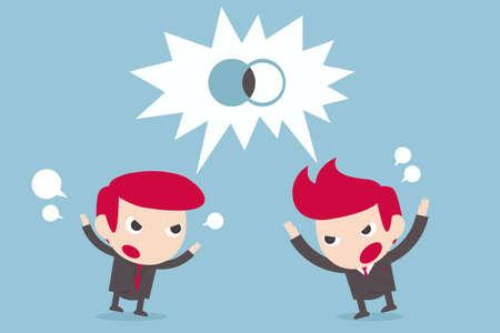 temper: businessman on debate