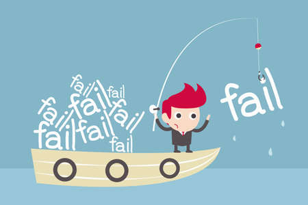 fail investment cartoon concept