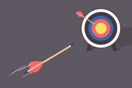 failed attempt: arrow and target