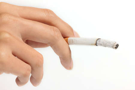 cigarette in female hand photo