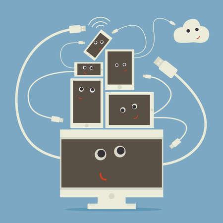 computer networking Vector